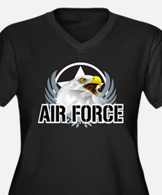Air Force Eagle Women's Plus Size V-Neck Dark T-Sh