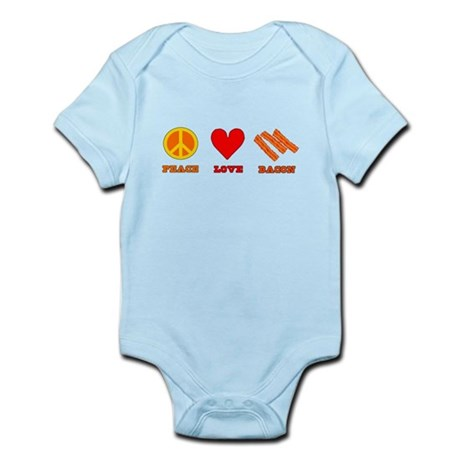 Peace Love Bacon Infant Bodysuit