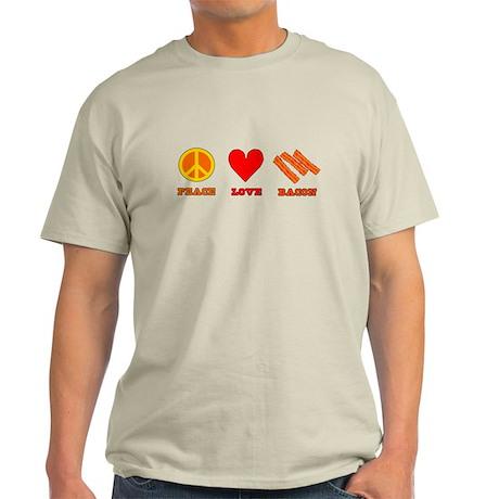 Peace Love Bacon Light T-Shirt