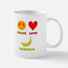 Peace Love Bananas Mug