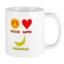 Peace Love Bananas Mug
