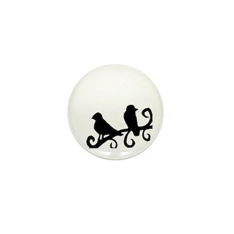 """""""Birds Silhouette"""" Mini Button"""