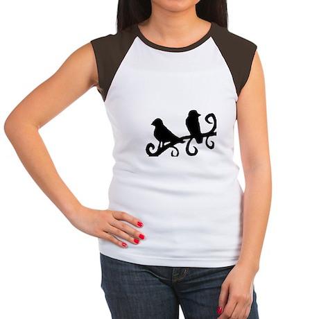 """""""Birds Silhouette"""" Women's Cap Sleeve T-Shirt"""