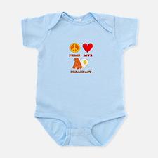 Peace Love Breakfast Infant Bodysuit