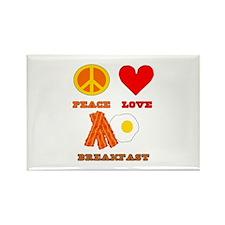 Peace Love Breakfast Rectangle Magnet