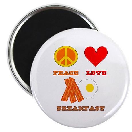 "Peace Love Breakfast 2.25"" Magnet (10 pack)"