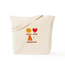 Peace Love Breakfast Tote Bag