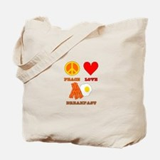 Peace Love Breakfast Tote Bag
