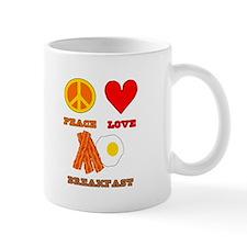 Peace Love Breakfast Mug