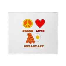 Peace Love Breakfast Throw Blanket