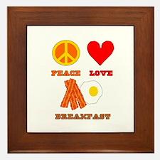 Peace Love Breakfast Framed Tile