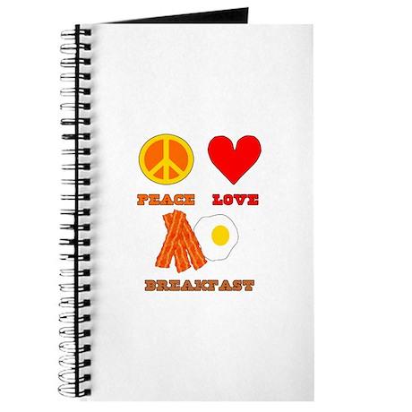 Peace Love Breakfast Journal