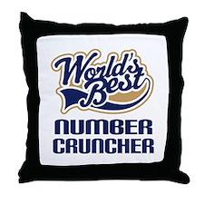 Number Cruncher Gift Throw Pillow