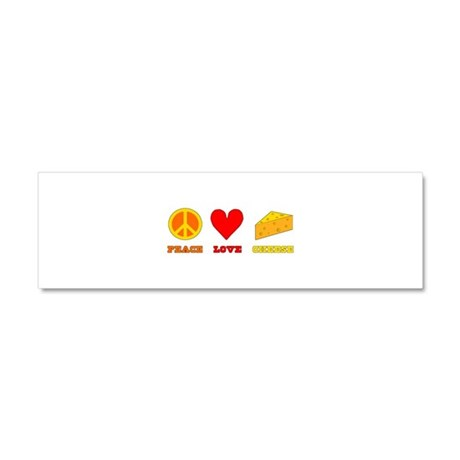 Peace Love Cheese Car Magnet 10 x 3