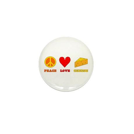 Peace Love Cheese Mini Button (100 pack)