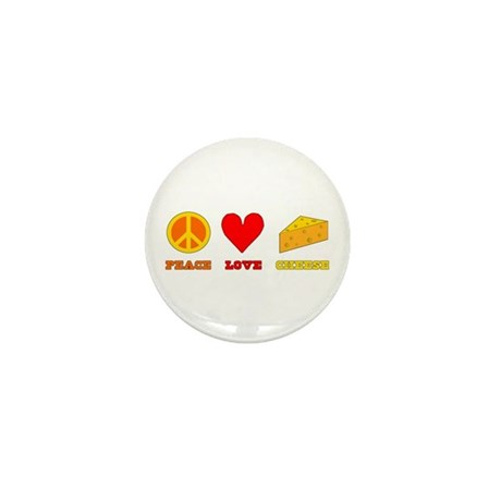 Peace Love Cheese Mini Button