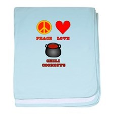 Peace Love Chili Cookoff baby blanket
