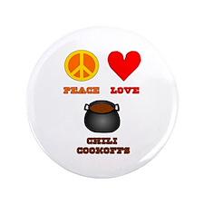 "Peace Love Chili Cookoff 3.5"" Button"