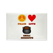 Peace Love Chili Cookoff Rectangle Magnet