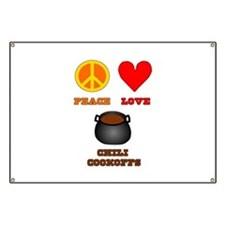 Peace Love Chili Cookoff Banner