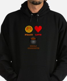 Peace Love Chili Cookoff Hoodie (dark)