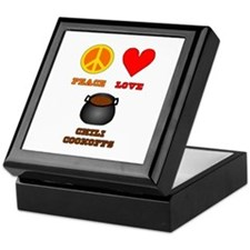 Peace Love Chili Cookoff Keepsake Box