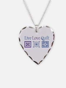 Live Love Quilt Necklace