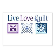 Live Love Quilt Postcards (Package of 8)