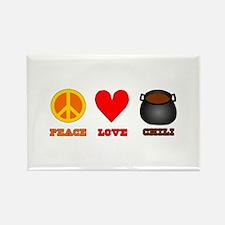 Peace Love Chili Rectangle Magnet