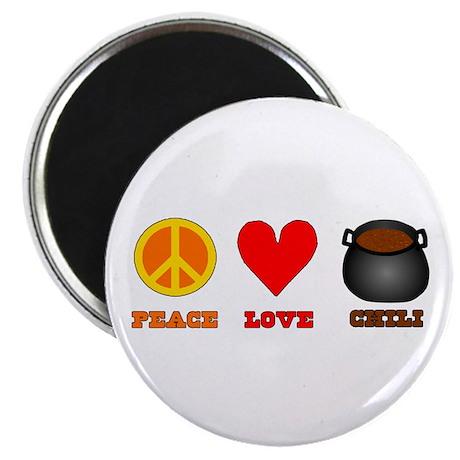Peace Love Chili Magnet