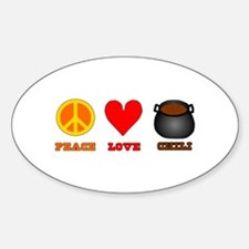 Peace Love Chili Sticker (Oval)