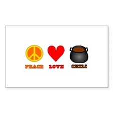 Peace Love Chili Decal