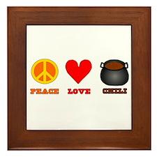 Peace Love Chili Framed Tile