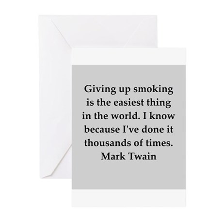Mark Twain quote Greeting Cards (Pk of 20)