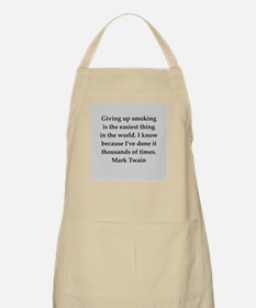 Mark Twain quote Apron