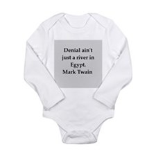 Mark Twain quote Long Sleeve Infant Bodysuit