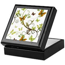 Earthtone Butterflies Keepsake Box