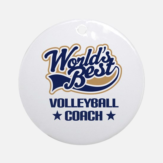 Volleyball Coach Gift Ornament (Round)