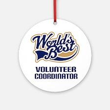 Volunteer Coordinator Gift Ornament (Round)