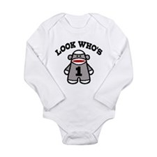 Cute 1 Year Old Long Sleeve Infant Bodysuit