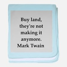Mark Twain quote baby blanket