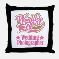 Wedding Photographer Gift Throw Pillow