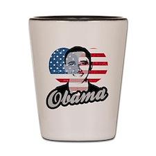Barack Obama American Heart Shot Glass