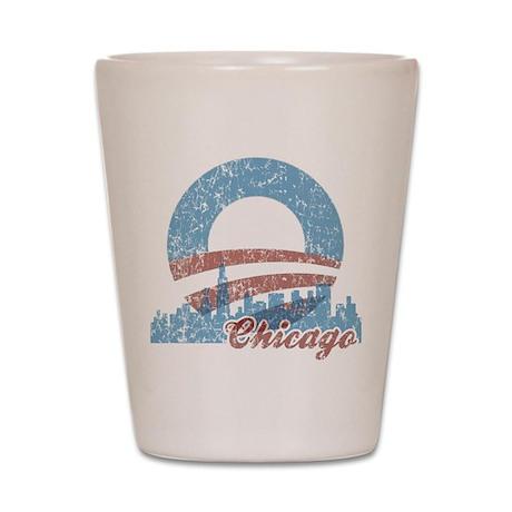 Chicago for Obama Shot Glass