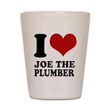 I love Joe the Plumber Shot Glass