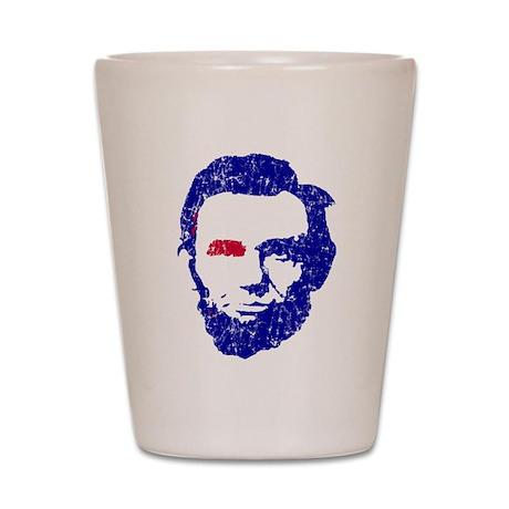 Abe Lincoln Red/White/Blue Shot Glass