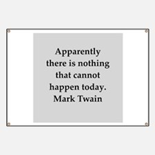 Mark Twain quote Banner