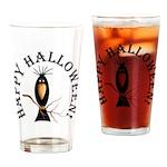 Halloween Black Crow Drinking Glass