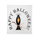 Halloween Black Crow Throw Blanket