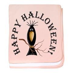 Halloween Black Crow baby blanket